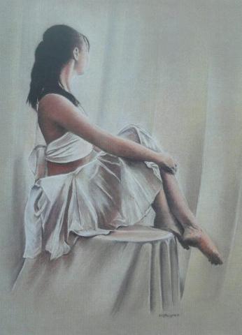 Contemplation - pastel