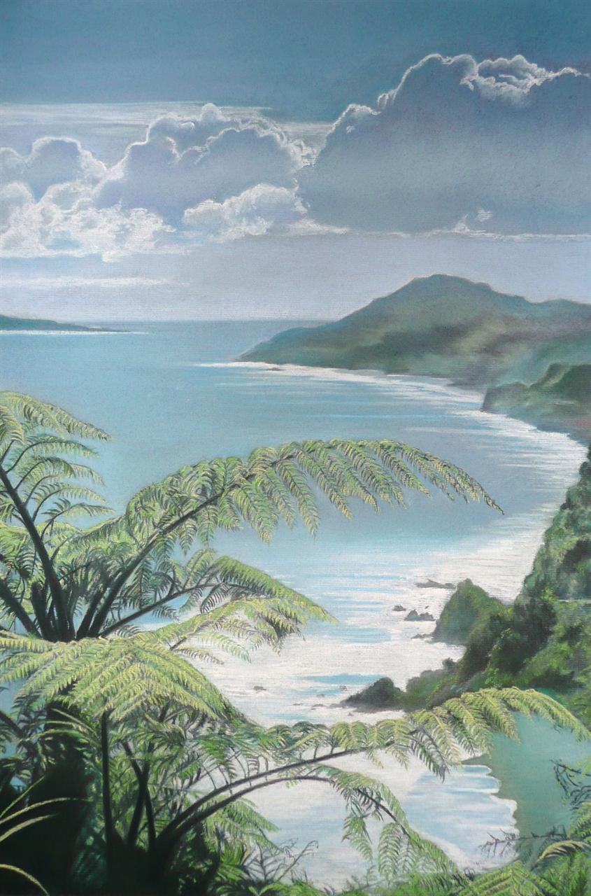 Paparoa Coastline New Zealand - Pastel
