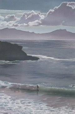 Surfers Lang beach New Zealand