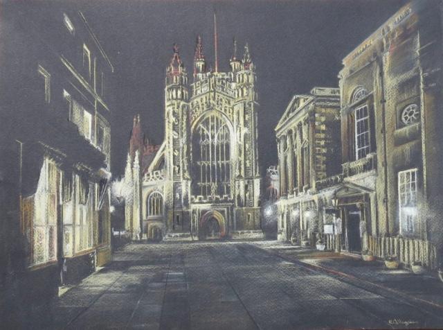 Bath Abbey - pastel